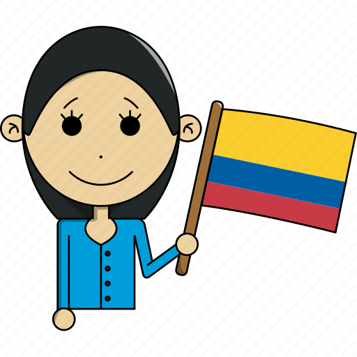 avatar, character, colombia, country, face, flags, woman icon