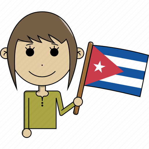 avatar, character, country, cuba, face, flags, woman icon
