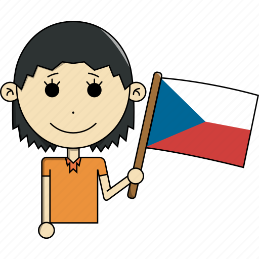 avatar, country, czech, face, flags, republic, woman icon