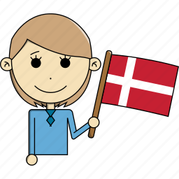 avatar, character, country, denmark, face, flags, woman icon