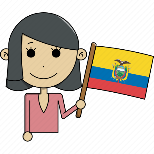 avatar, character, country, ecuador, face, flags, woman icon
