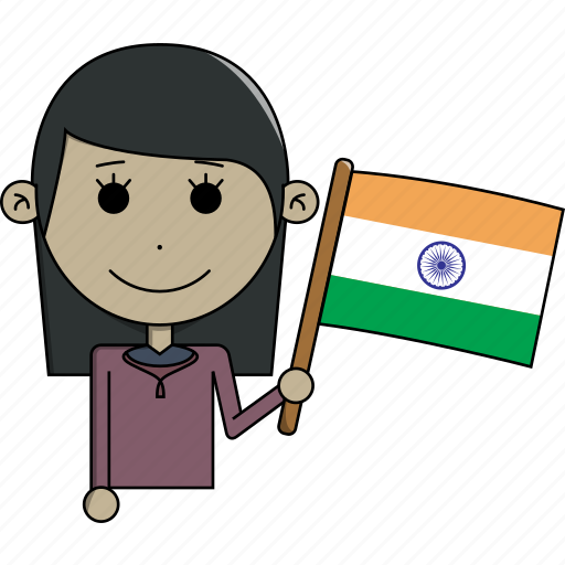 avatar, character, country, face, flags, india, woman icon
