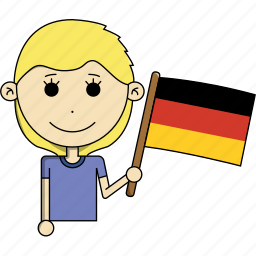 avatar, character, country, face, flags, germany, woman icon