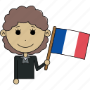 avatar, character, country, face, flags, france, woman icon
