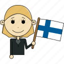 avatar, character, country, face, finland, flags, woman icon