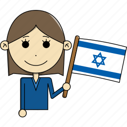 avatar, character, country, face, flags, israel, woman icon