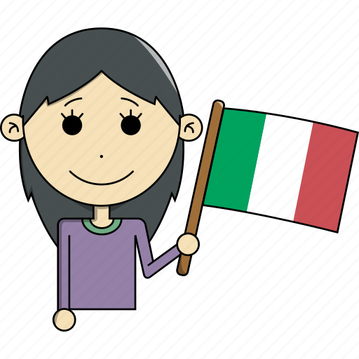 avatar, character, country, face, flags, italy, woman icon