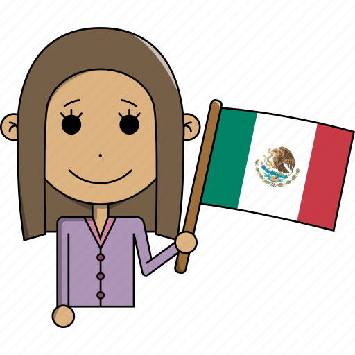 avatar, character, country, face, flags, mexico, woman icon