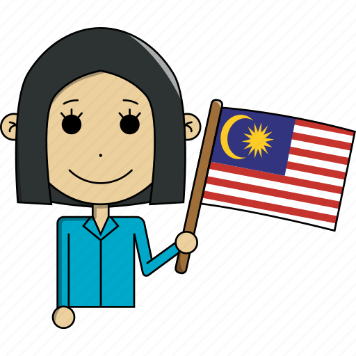 avatar, character, country, face, flags, malaysia, woman icon