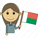 avatar, character, country, face, flags, madagascar, woman icon