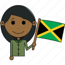 avatar, character, country, face, flags, jamaica, woman icon