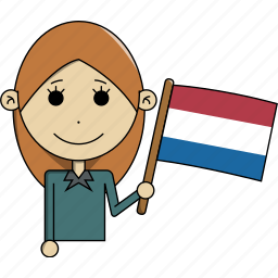 avatar, character, country, face, flags, netherlands, woman icon