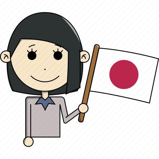 avatar, character, country, face, flags, japan, woman icon