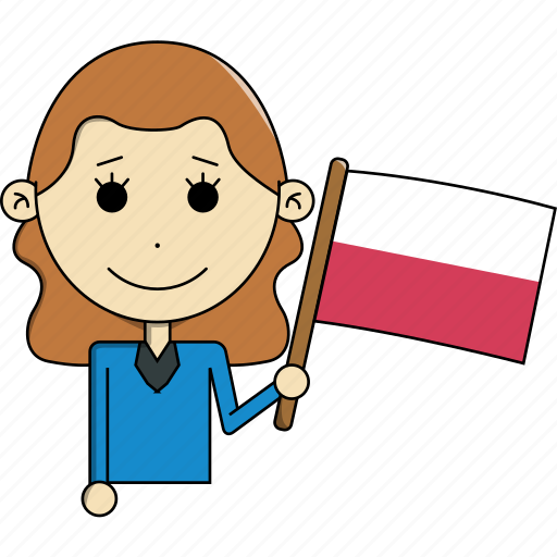 avatar, character, country, face, flags, poland, woman icon