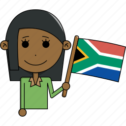 africa, avatar, country, face, flags, south, woman icon