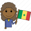 avatar, character, country, face, flags, senegal, woman icon