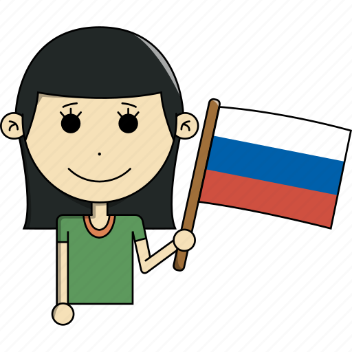 avatar, character, country, face, flags, russia, woman icon