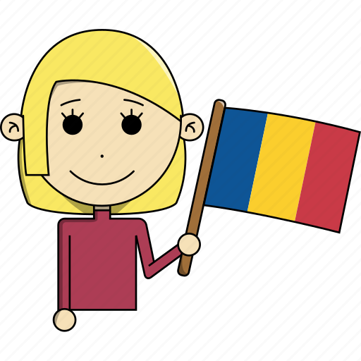 avatar, character, country, face, flags, romania, woman icon