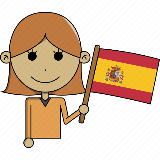 avatar, character, country, face, flags, spain, woman icon