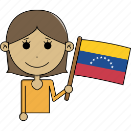 avatar, character, country, face, flags, venezuela, woman icon