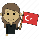 avatar, character, country, face, flags, turkey, woman icon