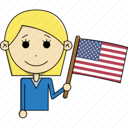 avatar, country, flags, states, united, usa, woman icon