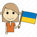 avatar, character, country, face, flags, ukraine, woman icon