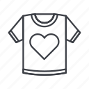 clothes, clothing, fashion, heart, style, t, tshirt icon