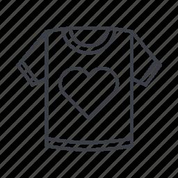 clothes, clothing, fashion, heart, style, t, tshirt icon
