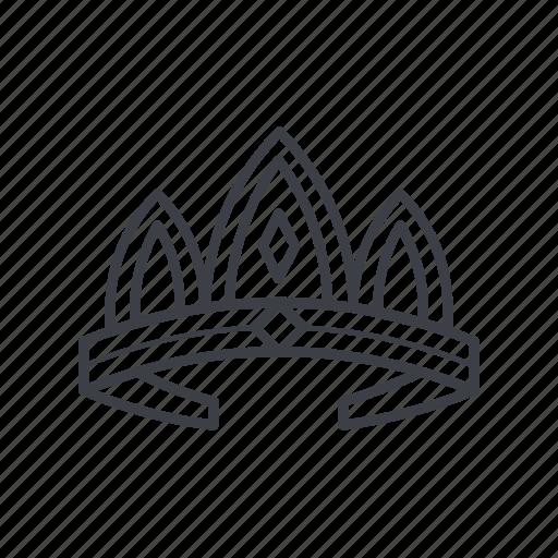 crown, girl, queen, tiara, wedding icon