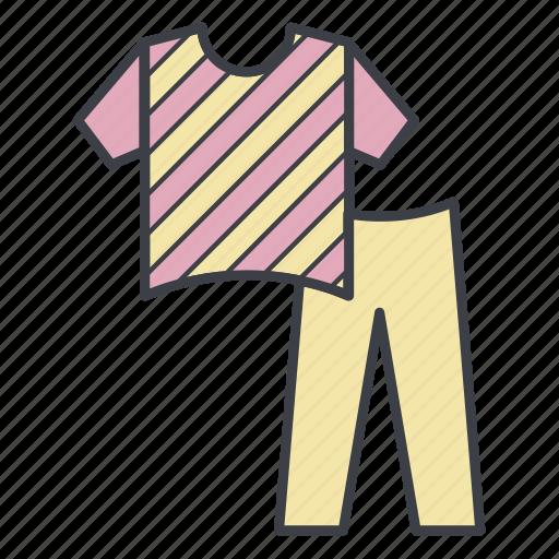 costume, pajamas, pants, shirt, sleap icon