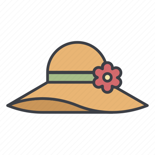 flower, hat, head covering, headdress, headwear icon