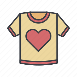 fashion, heart, shirt, tshirt icon