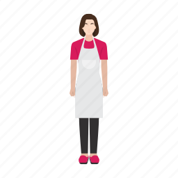 helper, housemaid, job, occupation, profession, woman, work icon