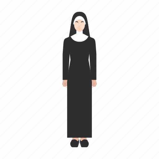 job, nun, occupation, people, profession, sister, woman icon