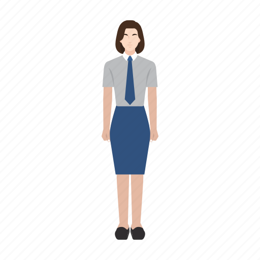 business, job, occupation, officer, profession, woman, work icon