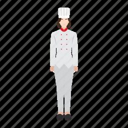chef, food, job, occupation, profession, woman, work icon