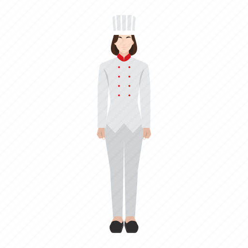 chef, food, job, occupation, profession, woman, work icon