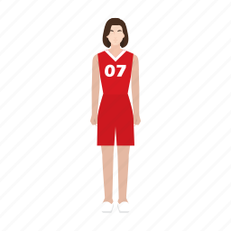 basketball, job, occupation, player, profession, sport, woman icon