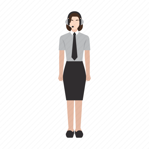 customer service, job, occupation, people, profession, woman, work icon