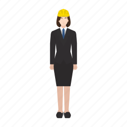 business, job, occupation, profession, project, woman, work icon