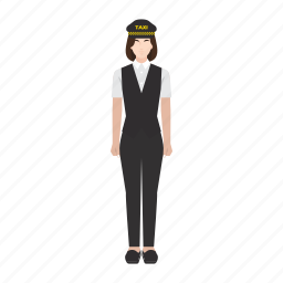cab, driver, job, occupation, profession, taxi, woman icon