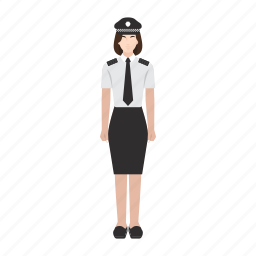 job, occupation, people, police, profession, woman, work icon