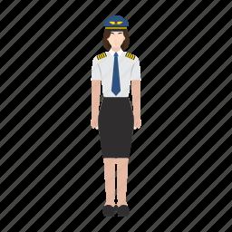 job, occupation, pilot, plane, profession, woman, work icon