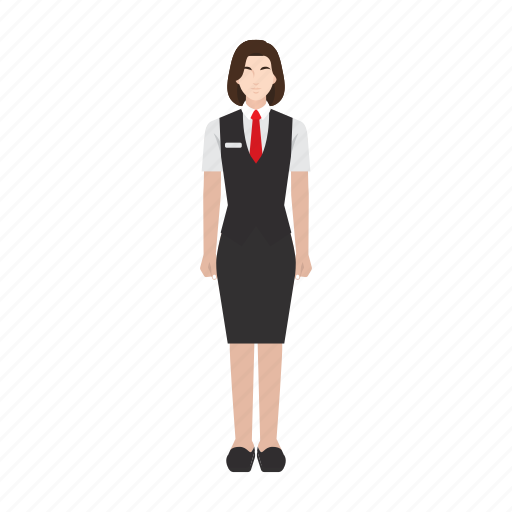 job, occupation, profession, restaurant, waitress, woman, worker icon