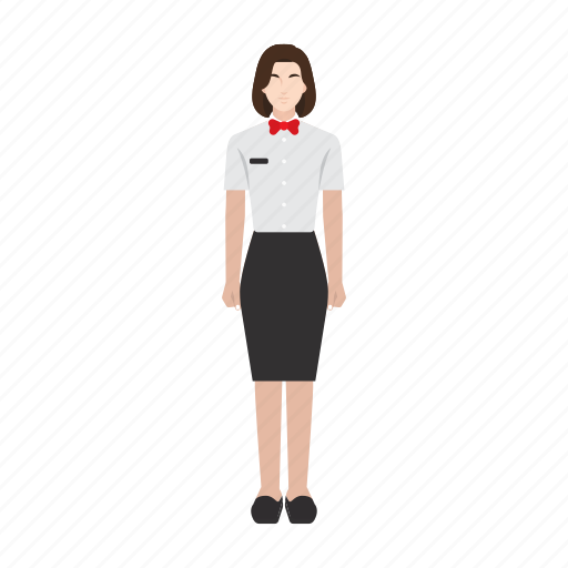 job, occupation, profession, waitress, woman, work, worker icon