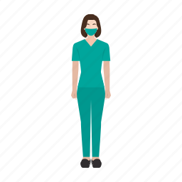 doctor, hospital, occupation, profession, surgery, woman, work icon