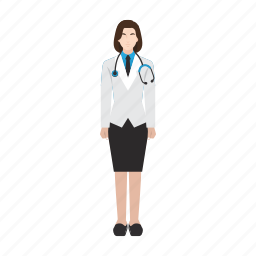 doctor, hospital, job, medical, occupation, profession, woman icon