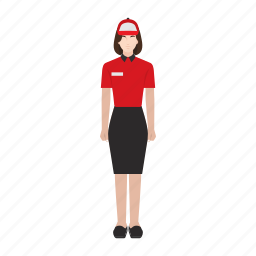 business, delivery, job, occupation, profession, woman, work icon