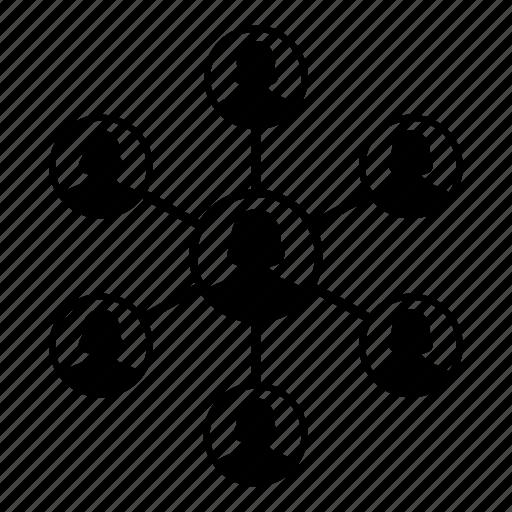 business, employee, group, leadership, network, people, teamwork icon